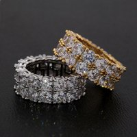 Wedding Rings Fashion Mens Silver With Crystals Stones Big Statement Ring For Women Trendy Engagement Zirconia Jewelry B029