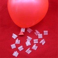 Clipes de bolsa 100 pcs Balão de látex Balões PVC Balões de selagem Bolas Acessórios Clipe Ballon Buttons Festa Fontes BDF99