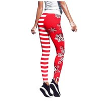 Women Sports Pantschristmas Printing High Waist Strethcy Fit...