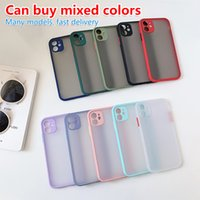 iPhone 12 11 casos de telefone celular transparente contraste fosco cor pele sente macio tpu caso adequado para pro max xs xr x tendência de moda