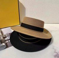 الأزياء المنسوجة واسعة شاحنة قبعة المعادن أزياء واسعة كاب الوالدين والطفل مسطحة أعلى قناع القبعات المنسوجة