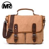Bolsas de la lona Markroyal 2021 Retro lienzo de lona de la escuela Viaje de equipaje Bolsa de laptop sólido para masculina caída de caqui