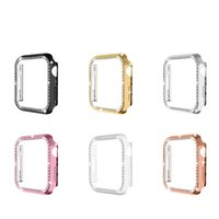 For Apple Watch Series 7 Luxury Glossy PC Diamond Protect Bumper Case Cover iwatch 41mm 45mm