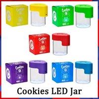 Cookies LED-Speicher-Glas-Vergrößerungs-Stash-Behälter aufgeladene Batterie 155ml MAG Glowing Vakuumflasche für trockene Herbes-Tabak-Gummies essbar