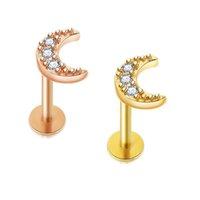 ステンレス鋼のリップスタッドのラボレの輪の耳のバー6 / 8mmの長さの軟骨の棒の穿孔宝石の女性のための宝石