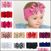 Jewelry Jewelrybaby Girl Headband Veet Born Bow Head Band Infant Nylon Headbands Kids Hairband Toddler Girls Hair Aessories Drop Delivery 20