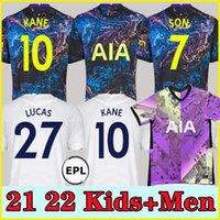 21 22 Dele Filho Tottenham Bale Kane Jersey Hojbjerg Bergwijn Lo Celso Spurs 2021 2022 Lucas Camisas de Futebol Uniformes Men + Kit Kit Sock