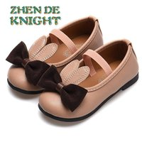 Athletic & Outdoor Elastic Band Children Shoes Drop Spring Summer Cute Girls Sweet Soft Leather With Bow-knot Ears Kids