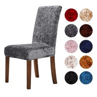 1 2 4 6 Pcs Velvet Shiny Fabric Chair Covers Universal Size Stretch Seat Case Slipcovers For Dining Room Home