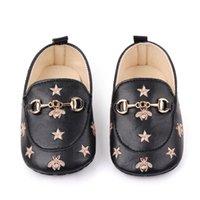 Bebé sapatos sapatos primeiros caminhantes abelhas com estrelas bebê recém-nascido bebê casual infantil infantil sapatos PU algodão macio sola mocassins