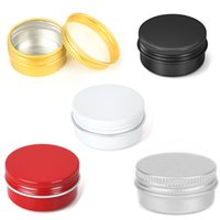 35*18mm 10g Empty Refill Silver Aluminum Cosmetic Sample Packing Tins with Screw Lids Travel Round Storage Jar for Lip Balm DIY Candles Eye Shadow Powder