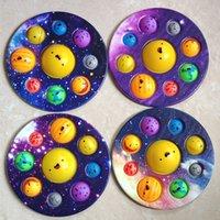 Otto pianeti Fidget giocattoli dito finger bolla premere rilievi di punta del giocattolo stress educativo bambini bambino regalo squeeze sensore