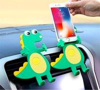 Anti-slip Mats 1 Piece Flexible Soft Rubber Car Holder Cute Dinosaur Air Vent Mount Phone Silicone Mobile Universal