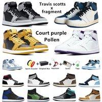 Air Jordan Retro Jumpman 1s 남성용 농구화 University Blue Travis scotts x fragment 1 twist unc shadow 2.0 Silver toe Hyper Royal 남성 여성 트레이너 스포츠 스니커즈