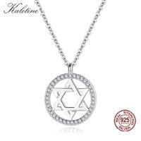 KALETINE Je Magen Star of David 925 Sterling Silver Necklace Women Men Israel Judaica Hebrew Jewelry Hanukkah Pendants 210621