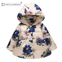 Jackets 2021 Flower Printing Baby Clothes Long Sleeve Childrens Jacket Hoodies Cotton Coat Fashion For Girls 2-5 Tears Old