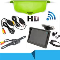 Car Video 5 Inch HD Foldable Rear View Monitor Reversing LCD TFT Display With Night Vision Backup Rearview Camera For Vehicle