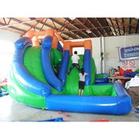 Inflatable Water Slide With Swimming Pool Bouncer Jumping For Kids And Adults Outdoor Games & Activities