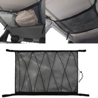 Car Organizer Elastic Storage Bag Adjustable Hanging Luggage Ceiling Net For Carseat Handbag Pocket Holder Camping Trailer