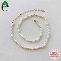 ElfoplataSi authentique 925 Sterling argent élégant perles chocker chocker pour femme mariage cadeau cadeau bijoux y3-57