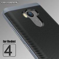 Xiaomi Redmi 4 Pro Redmi Not 4 4x Durumda Karbon Fiber Dokulu Tampon PC Silikon Tam Vücut Koruyucu Telefon Çanta Kapak 10 adet