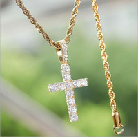 925 Sterling Silver CZ Cross Pendant Solid Micro Jesus Cross Pendant Necklace Men Hip Hop Micro Pave Cubic Zircon Jewelry