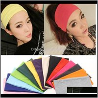 Headbands Jewelrycandy Colors Wide Womens Band Scarf Head Ornament Yoga Sports Hairband Hair Dress Fashion Jewelry Ship Drop Delivery 2021 Q
