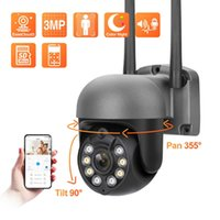 Techage 3MP Wireless PTZ IP Camera Outdoor Waterproof Smart AI Dome WiFi Security Camera Human Detection Full Color Night Vision