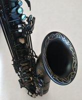 أعلى سوزوكي المهنية اليابانية تينور ساكسفون B مسطح الموسيقى صك woodwide الأسود النيكل الذهب ساكس هدية مع القضية