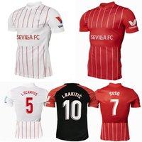 2021 2022 Sevilla FC Soccer Jerseys Lamela I.RAKITIC J.NAVAS SUSO Home Alow Away 22 22 Camisa de fútbol