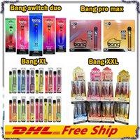 BANG XL BAND XXL Bang Pro Max Bang Interruptor Duo 2 em 1 2500Puffs descartáveis Vape Pen Cartuchos Pods Vaporizador Starter Kit Dispositivo de Vapor