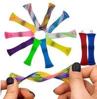 Tube de jouet Mesh Mesh Fidget américain pour adultes Enfants à l'école Adhd Ajoutez des marbres d'anxiété OCD et des fidèles à la main des doigts