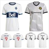 2021 2022 Columbus Vancouver Whitecaps Futbol Formaları Zardes Mensah Nagbe Santos Zelarayan MLS Mens Futbol Gömlek 20 21 Cavallini Üniforma