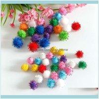 Декоративные цветы венки праздничные партии поставляет домашний сад150-200 шт. / Лот приблизительно 10-15 мм пушистые плюшевые мягкие помпомы POM шарики для DIY ребенок