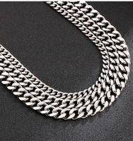 Chains 8 11 13mm Heavy Mens Stainless Steel Cuban Curb Link Chain Necklace Bracelet Punk Hiphop Biker Jewelry 45-76cm