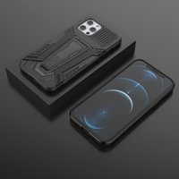 Luxury Hybrid Layder Hard PC TPU Cases For Iphone 12 Mini 11 Pro Max XR XS 8 7 6 Samsung S21 Ultra Defender Kickstand Armor Back Cover