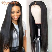 Lace Wigs UpgradeU Straight Human Hair For Women Part Front Remy 180 Density Brazilian Frontal Wig 30inch