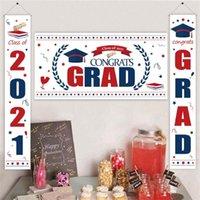 Graduation Decorations flag 2021 Backdrop Banner Grad Congrats Party Supplies Hanging Flags Yard Decor Signs Booth Props 2190 V2