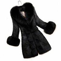 Plus Größe Frauen Kleidung S-6XL Wintermantel Büro Dame Faux Pelzmantel Elegante Weibliche Outwear Slim Teddy Jacke Frauen Warme R56Y #