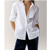 Women's Blouses & Shirts 2021 England Style Office Lady Simple Fashion Solid White Blouse Women Blusas Mujer De Moda Shirt Tops