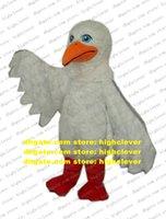 Cool White Seagull Eagle Hawk Mascot Costume Mascotte Sea Gull Seas Mew Glede With Big Blue Bright Eyes Adult No.653 Free Ship