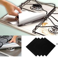 4 unids / conjunto Estufa de gas protector Cubierta de cocina Liner Clean Mat Pad Cocina Cocina Estufa de gas Stovetop Protector Accesorios de cocina Regalo HWF7769