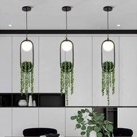 Sarkıt Lambaları Bitki Işıkları Skygarden LED Lamba Saksı Asılı Nordic Modern Hanglamp Restoran Aydınlatma Armatürü Mutfak Dekor