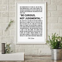 Paintings American TV Show Be Curious Not Judgmental Quote Poster Ted Lasso Print Wall Art Digital Home Decor Frameless
