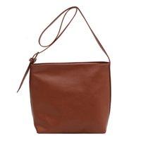 Aw63 Shoulder Leather Bag Women Female Casual Fashion 77626 Messenger Crossbody Briefcases Handbag PU Retro For Bucket Rbohj