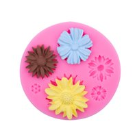 3D Bakeware Flower Silicone Molds Fondant Craft Cake Candy Chocolate Sugarcraft Ice Pastry Baking Tool Mould