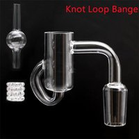 Diamond Knot Loop Quartz Banger With Carb Cap 10mm 14mm 18mm Smoking Accessories Recycler gear Insert For Hookahs Glass Water Bongs Oil Rigs