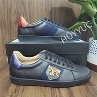 Top Quality Mens Sneakers Femme Sneakers Casual Chaussures Low Cut Italie Ace Bee Stripes Chaussure Plat Cuir Snake Tiger Sports Sports Sports Chaussures Versez HOMMES