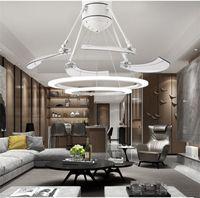 DHL люстр взлет для вентилятора творческий потолочный светильник невидимая гостиная столовая спальня дома подвески огни сильный ветер