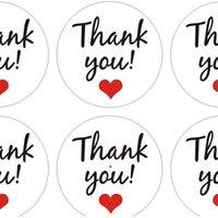 3.5cm Carta Kraft Grazie Sticker Adesivo Round Wishing Bottiglia Carta Carta Tag Artigianato Decorazione di nozze FAI DA TE Forniture per feste Adesivo Tag OWE8320